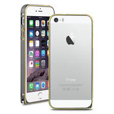 iPhone SE 5 5s Aluminium Rahmen Schutz Bumper neu Hülle Alu Cover grau