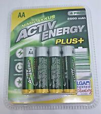 AA - Active Energy NiMH Akkus Plus 2500 mAh 4er Pack Wiederaufladbar HRMR6