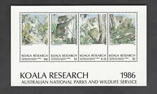 Koala Research mini-sheet from Australia 1986 with signed photo by artist