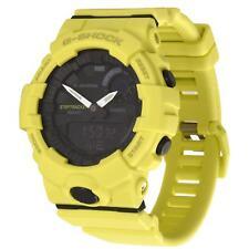 New Casio G-Shock Analog-Digital Step Tracker Yellow Resin Strap Watch GBA800-9A