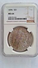 1896 Morgan Silver Dollar NGC MS 64 GEM +++