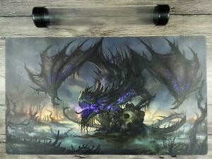 Yu-Gi-Oh/MTG/VG Black Dragon Custom Playmat TCG CCG Mat Free High Quality Tube