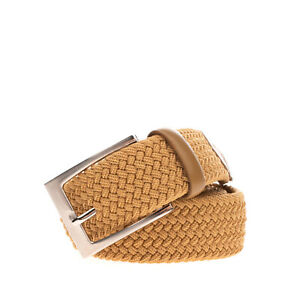 BEVERLY HILLS POLO CLUB Woven Belt Size 85/34 Elasticated Pin Buckle Closure