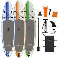 Arebos Stand Up Paddle SUP Board Paddling Surfboard aufblasbar mit Paddel