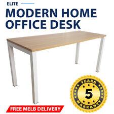 Elite Modern Home Office Desk White Frame New Oak Desk Top