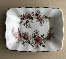 "Royal Albert Bone China England Lavender Rose Trinket Tray 5 1/8""X3 7/8"""