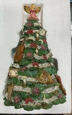 San Francisco Music Box Co Victorian Melodies Rotating Oh Xmas Tree Figurine