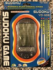 SUDOKU Electronic Hand Held Game W/Clock, Date & Time, Touch Screen, YD-638, NEW