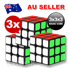 3x Stock Magic Cube 3x3x3 Super Smooth Fast Speed Rubik Puzzle Rubics Rubix