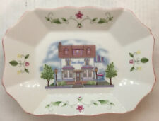 """Lenox Village Candy Tray New With Box Porcelain 9"""" By 6.5"""""""