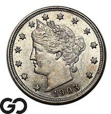 1903 Liberty Nickel, V Nickel, Lustrous