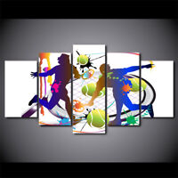 Abstract Tennis Painting 5 piece HD Art Poster Wall Home Decor Canvas Print