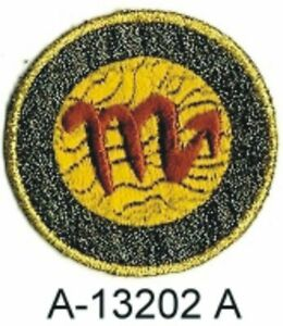 Zodiac Scorpio Horoscope Sign Embroidery Patch