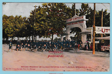 Second Regiment of Illinois entering Camp, Lincoln, Springfield, Illinois. 1907