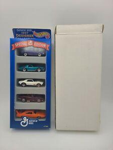 1997 Mattel Hot Wheels General Mills Designer Collection 5 pack w/ original box