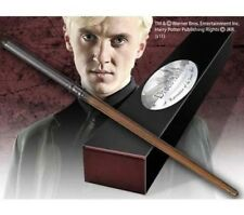 HARRY POTTER OFFICIAL COLLECTORS DRACO MALFOY REPLICA WAND BONUS NAME CLIP STAND