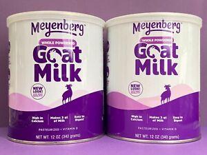 Meyenberg Whole Powdered Goat Milk 12oz x2 Use By: 04/06/24 NEW Free Priority