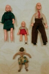 Vintage Triang Or Lundby Family & Rare Toi-Dol Doll Some Damage As Seen In Pics
