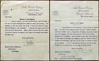 Northern British Railway Company 23 Waterloo Place Edinburgh 2 x Letters 1902
