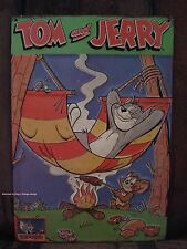 EMBOSSED METAL DECOR TOM JERRY magazine cover animated cartoon network classic