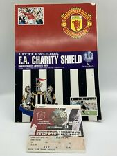 More details for rare manchester united v newcastle united 1996 charity shield programme + ticket