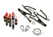 Roll Design Long Travel Arms + Elka Legacy Front and Rear Shocks KFX400 KFX 400