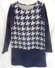 Gymboree Girls Long Sleeved Dress Blue and Gray Geometric Sz 7