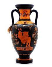 Ancient Greek Vase Red Figure Pottery Aphora Teacher of Music & Athena 12.6''
