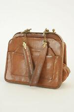 Vintage Bolso de piel ROBERTA de CAMERINO - bolso de piel camel - Bolso de mano