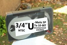 """3/4"""" U-Matic SP To 10-BIT AVI Video Tape Digitizing Sony File Transfer SERVICE"""