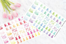 Cleaning Functional Planner Stickers - in Cool & Warm Colours - Erin Condren
