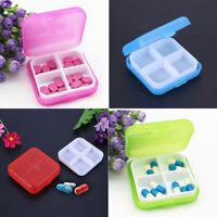 4Slot Health Medicine Case Medical Pill Box Travel Storage Case Organizer