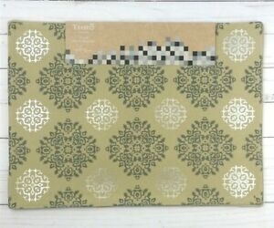 Fabric Placemats Medallions Silver Beige Gray Set of 4