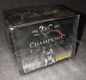 2005 Panini Champions of Europe SEALED WAX BOX 50 PACKS 250 STICKERS MESSI?
