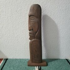 Stan Joseph Sequilem Chief Totem Signed Titled Hand Carved Red Cedar 12""