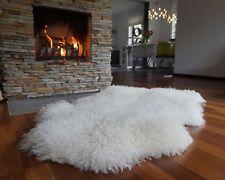 ON SALE SALE Sheepskin White XXl British Leicester sheepskin rug curly wool Rug