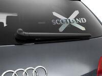 Scotland Flag Car Sticker Styling Decal Scottish Flag, Chrome Silver