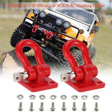 1:10 RC Rock Crawler Remolque Metal Grillete Gancho Rojo para Axial SCX10 RC4WD