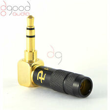 1 x High Quality Right Angle Gold Plated 3.5 mm Stereo Jack Plug Connector Black