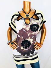 Lavish 2X Plus Top Floral Stretch Blouse Sheer Short Sleeve Cut Out Neckline USA