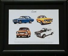 Ford Escort Mk 1 Stunning Framed Print RS2000/TWIN-CAM/RS1600/MEXICO