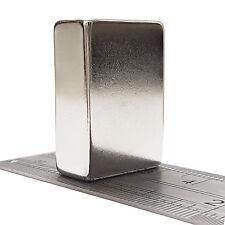 2 PC 40mm x 20mm x 10mm molto forte BIG Neodimio Rettangolo blocco MAGNETI