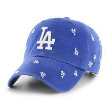 Los Angeles Dodgers MLB All Over Logos Clean Up Baseball Hat Cap LA Pride Men's