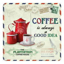 Grains de café Vintage Carte postale Cuisine Cafe Shop Boisson Boissons Table Coaster