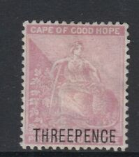 Cape of Good Hope 1880 3 on 3dd Pale Dull Rose SG35 Mint no gum