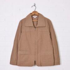 Coldwater Creek Brown Zip Up Collar Lightweight Windbreaker Jacket Coat M 10 12