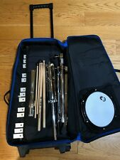 Cb Percussion Kit w/ Bag, Practice Pad, Bells, Stand and Sticks -Great Condition