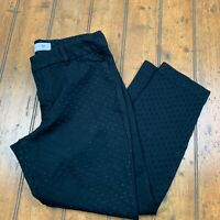 Old Navy Pixie Womens 8 Chino Ankle Pants Black Polka Dot Textured Stretch Dress