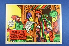 1957 Topps Isolation Booth #73 What Is The World's Most Common Name?  - ExMt
