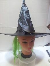 CARNEVALE HALLOWEEN CAPPELLO STREGA WITCH HAT CON CAPELLI VERDI WITH GREEN  HAIR 805f8e2c481e